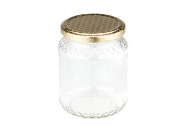 Honigglas Wabenrelief